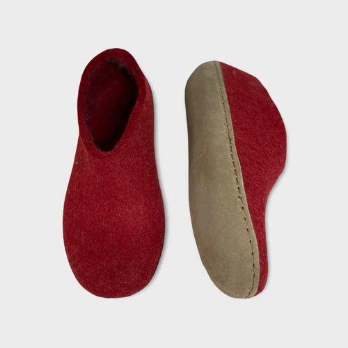 LEATHER SHOE RED M