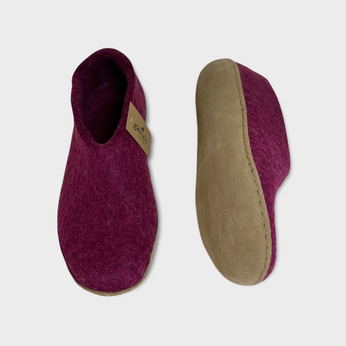 LEATHER SHOE BERRY W