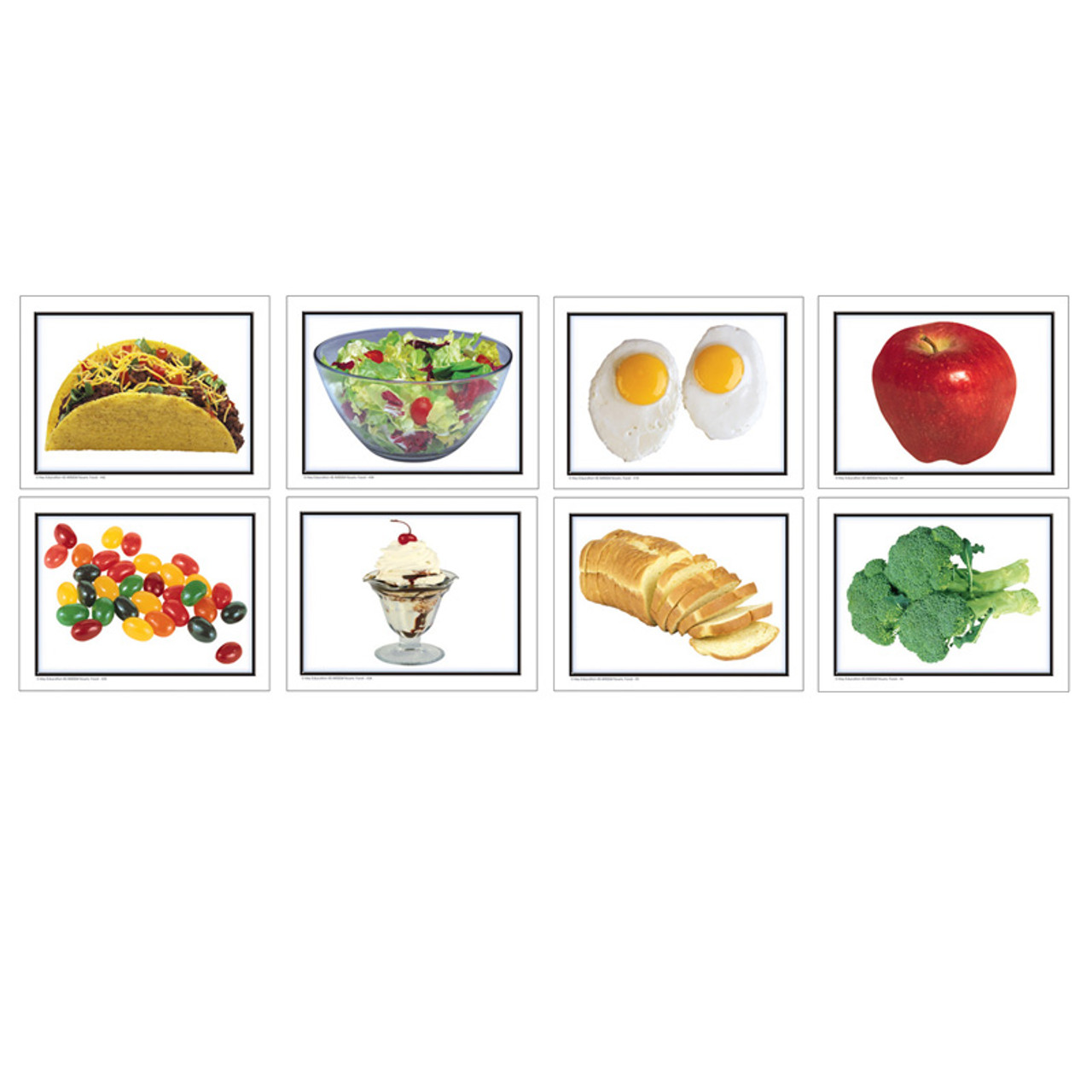 (2 Ea) Photographic Learning Cards Nouns Food