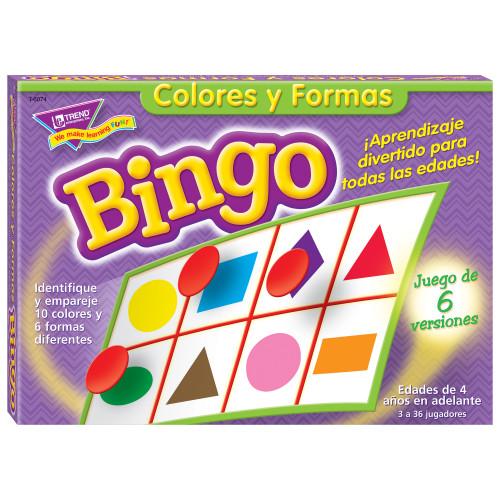 Bingo De Colores Y Figuras