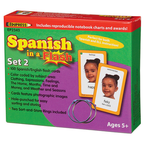 SPANISH IN A FLASH SET 2 (FLASH CARDS)