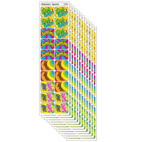 (12 Pk) Applause Stickers Spanish Hooray 100 Per Pk Acid-free - T-47122BN