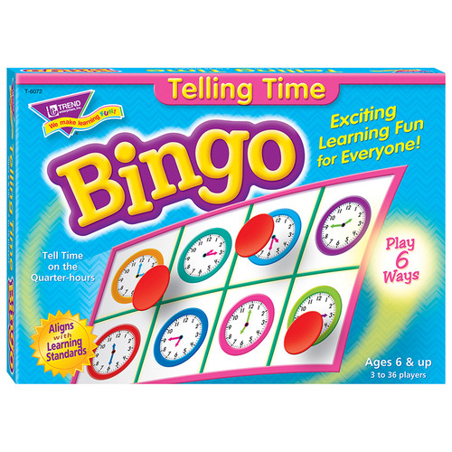 Bingo Telling Time Ages 6 & Up
