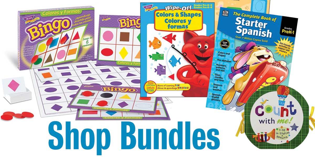 shop spanish learning bundles