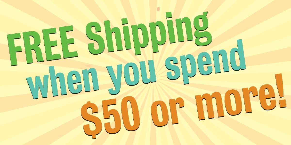 free shipping on spanish items over $50
