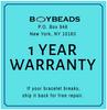 "BOYBEADS ""VALIANT"" matte black onyx + natural wood 10mm stretch bead bracelet for men"