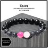 """Ellis"" BOYBEADS for Breast Cancer Awareness October Charity Pink + Lava + Black Onyx Mens Bracelet"