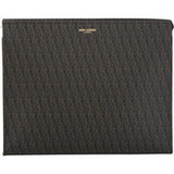 COVET: Saint Laurent monogram logo pouch