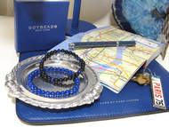 Summer Travel Bug- 6mm Men's Lapis Lazuli BOYBEADS for Vacation
