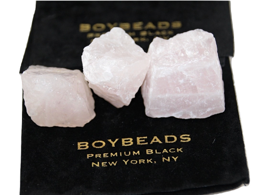 Raw Pink Rose Quartz Crystal Rock by BOYBEADS