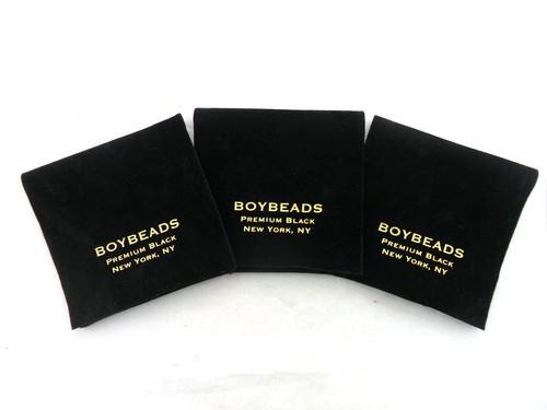 """""""Gibbons Amethyst"""" 6mm Matte Black Onyx  Beaded Bracelet by BOYBEADS"""