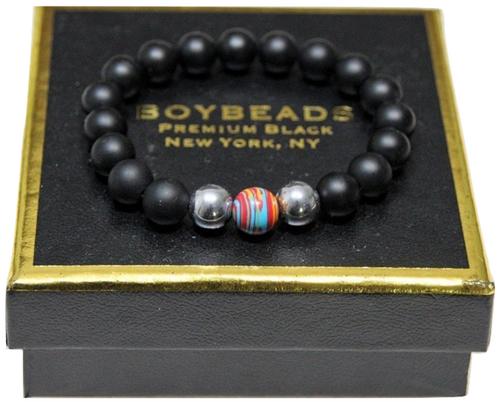 """Barney"" Gay Pride All-Gender 2020 BOYBEADS 10mm multi-color rainbow Bracelet Gift for All Genders"