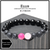 """Ellis"" BOYBEADS for Breast Cancer Awareness October Charity Pink + Lava + Black Onyx Mens Bracelet"