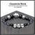 "BOYBEADS ""Cranium Noir Silver"" Men's Handmade Matte Black Onyx Silver CZ Skull Beaded Bracelet"