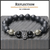 "BOYBEADS ""Reflection"" natural 10mm matte black onyx silvertone or goldtone skull beaded bracelet for guys"