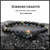 """Gibbons Unakite"" Matte Black Onyx 6mm natural stone bead bracelet"