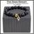 The Dark Knight Gold BOYBEADS Matte + Polished Black Onyx 8mm or 10mm Men's Beaded Bracelet
