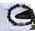 """Zebulon Silver"" BOYBEADS for TMCF-Black Onyx + Dzi Tube Bead Bracelet for Guys"