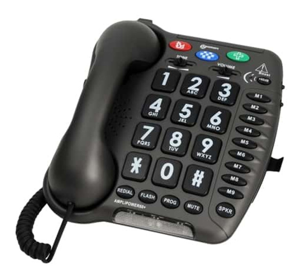 GEEMARC AMPLIPOWER60 EXTRA LOUD AMPLIFIED (UP TO 67dB) BIG BUTTON SPEAKERPHONE