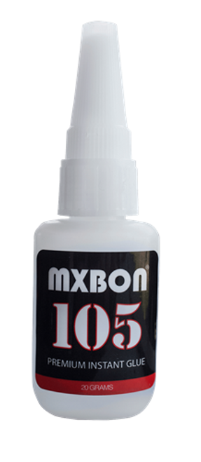 MXBON 105 20 gram bottle of glue with no clog lid