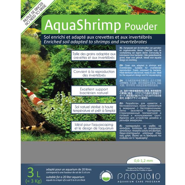 Prodibio AquaShrimp Powder + bacter kit soil + Startup (shipping included)
