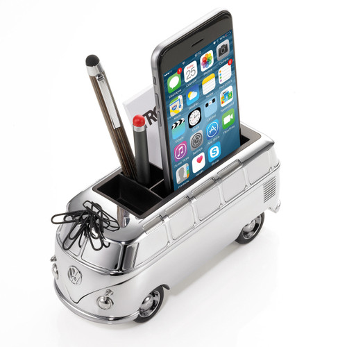 VW Camper Pen Holder Silver