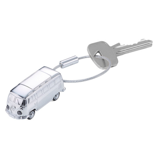 VW Camper Keyring with LED Light Silver