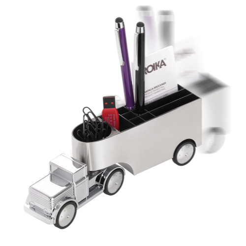 Pen & Paper Clip Holder Truck