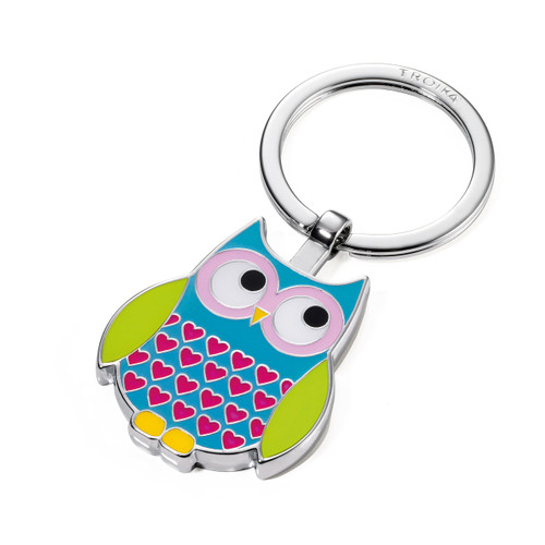 Keyring Owl Rosy Multicoloured