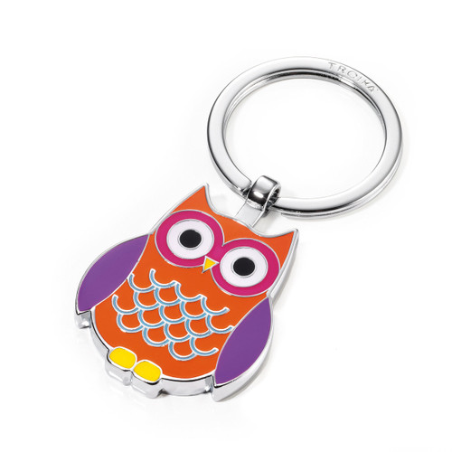 Keyring Owl Curly Multicoloured