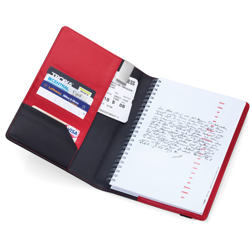Travel Folder with A5 Notepad Black/Red