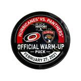 Florida Panthers vs Carolina Hurricanes 2/27/21 Warmup Puck
