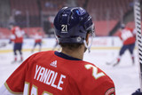 Florida Panthers #21 Alex Wennberg Game-Used 2021 Yandle's 1000th Game Warmup Jersey (Autographed)