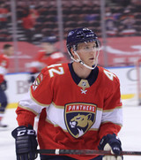 Florida Panthers #42 Gustav Forsling Game-Used 2021 Yandle's 1000th Game Warmup Jersey (Autographed)