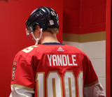 Florida Panthers #65 Markus Nutivaara Game-Used 2021 Yandle's 1000th Game Warmup Jersey (Autographed)