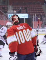 Florida Panthers #72 Sergei Bobrovsky Game-Used 2021 Yandle's 1000th Game Warmup Jersey (Autographed)