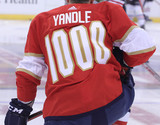 Florida Panthers #30 Philippe Desrosiers Game-Used 2021 Yandle's 1000th Game Warmup Jersey (Autographed)