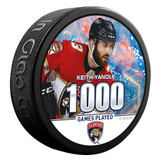 Florida Panthers Yandle 1000th Game Milestone Puck