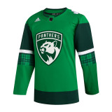 Florida Panthers #13 Vinnie Hinostroza Game-Used 2021 St. Patrick's Game Warmup Jersey