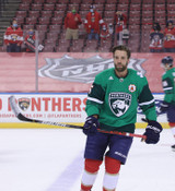 Florida Panthers #5 Aaron Ekblad Game-Used 2021 St. Patrick's Game Warmup Jersey
