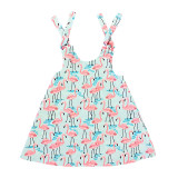 Youth Reversible Dress Flamingos & Circles