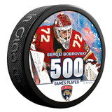 Florida Panthers Bobrovsky 500 Games Milestone Puck