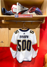 Florida Panthers #55 Noel Acciari Game-Used 2021 Bobrovsky's 500 Games Warmup Jersey (Autographed)