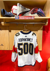 Florida Panthers #70 Patric Hornqvist Game-Used 2021 Bobrovsky's 500 Games Warmup Jersey (Autographed)