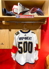 Florida Panthers #19 Mason Marchment Game-Used 2021 Bobrovsky's 500 Games Warmup Jersey (Autographed)