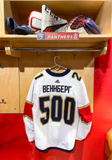 Florida Panthers #21 Alex Wennberg Game-Used 2021 Bobrovsky's 500 Games Warmup Jersey (Autographed)