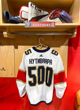 Florida Panthers #65 Markus Nutivaara Game-Used 2021 Bobrovsky's 500 Games Warmup Jersey (Autographed)
