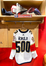 Florida Panthers #3 Keith Yandle Game-Used 2021 Bobrovsky's 500 Games Warmup Jersey (Autographed)