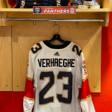 Florida Panthers #23 Carter Verhaeghe Game-Used 2021 Set 1 Away Jersey