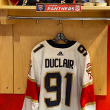 Florida Panthers #91 Anthony Duclair Game-Used 2021 Set 1 Away Jersey